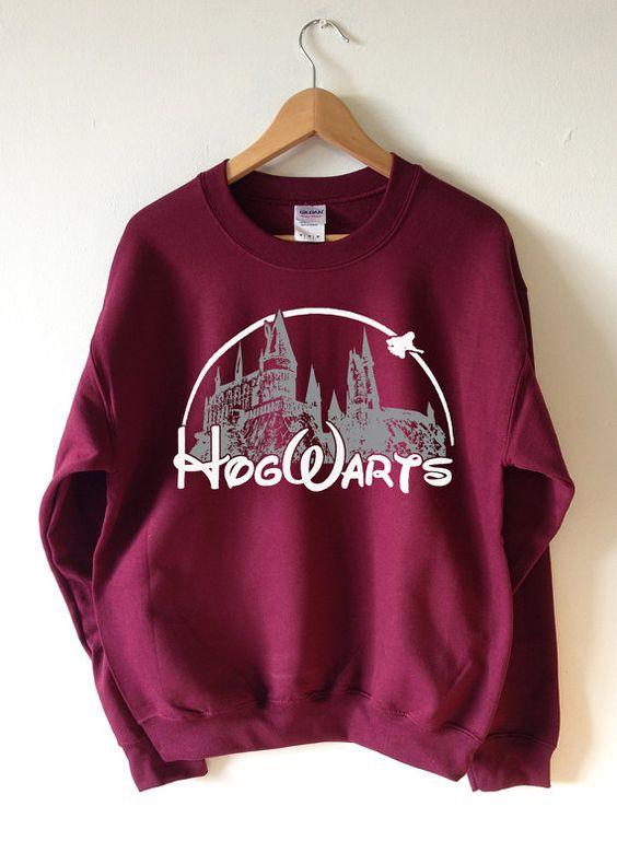 HOGWARTS Sweatshirt Harry Potter Sweater - High Quality SCREEN PRINT Super Soft fleece lined unisex Ladies Sizes - Worldwide Shipping S-2xl