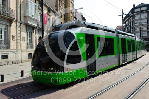 Tram in Vitoria Gasteiz, Spain