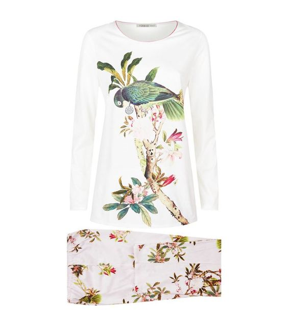 Pin for Later: You'll Want to Wear This Nightwear All Day Long Louis Feraud Floral Long Sleeve Pyjamas Set Louis Feraud Floral Long Sleeve Pyjamas Set (£200)