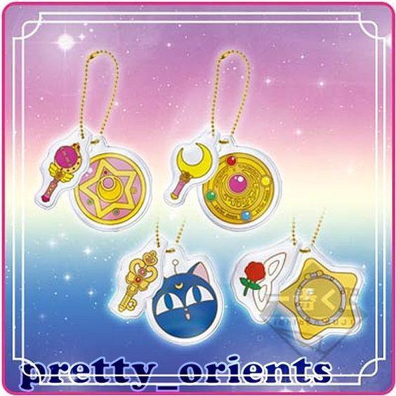 Sailor Moon Sailormoon Key Chain Bag Charm Set Prize NO Figure wand Pointer Pen