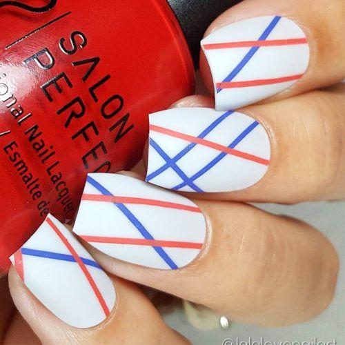 30 Fun Easy Nail Designs To Celebrate Labor Day Simple Nail Designs Patriotic Nails Design Cute Nail Designs
