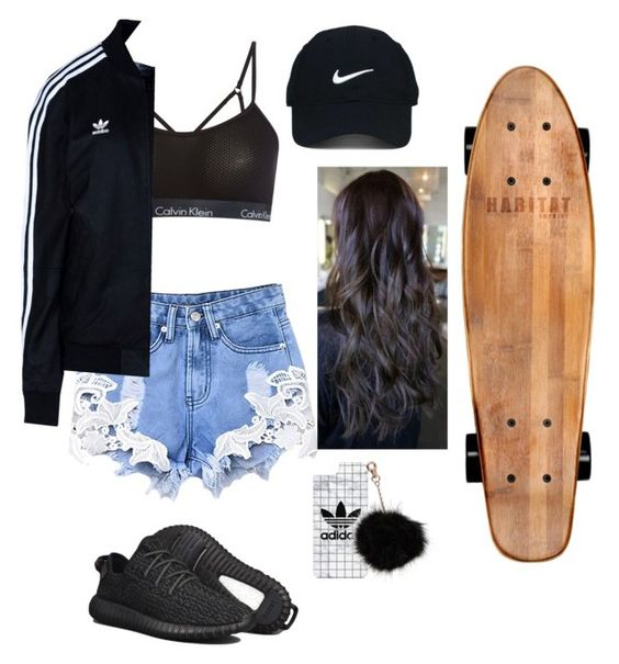 """""""skate"""" by relax-958 ❤ liked on Polyvore featuring Calvin Klein, Nike Golf, adidas, adidas Originals and Casetify"""