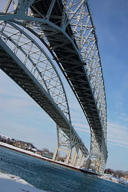 The Bluewater Bridge In Sarnia, Canada! Love this place!! Lake Huron!
