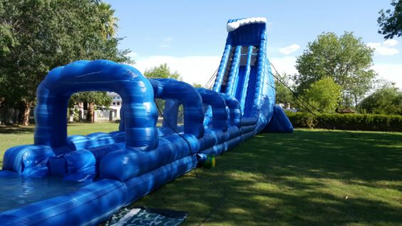 42 Ft tall - Biggest inflatable water slide rental - AZ water slide rentals www.bouncethenslide.com