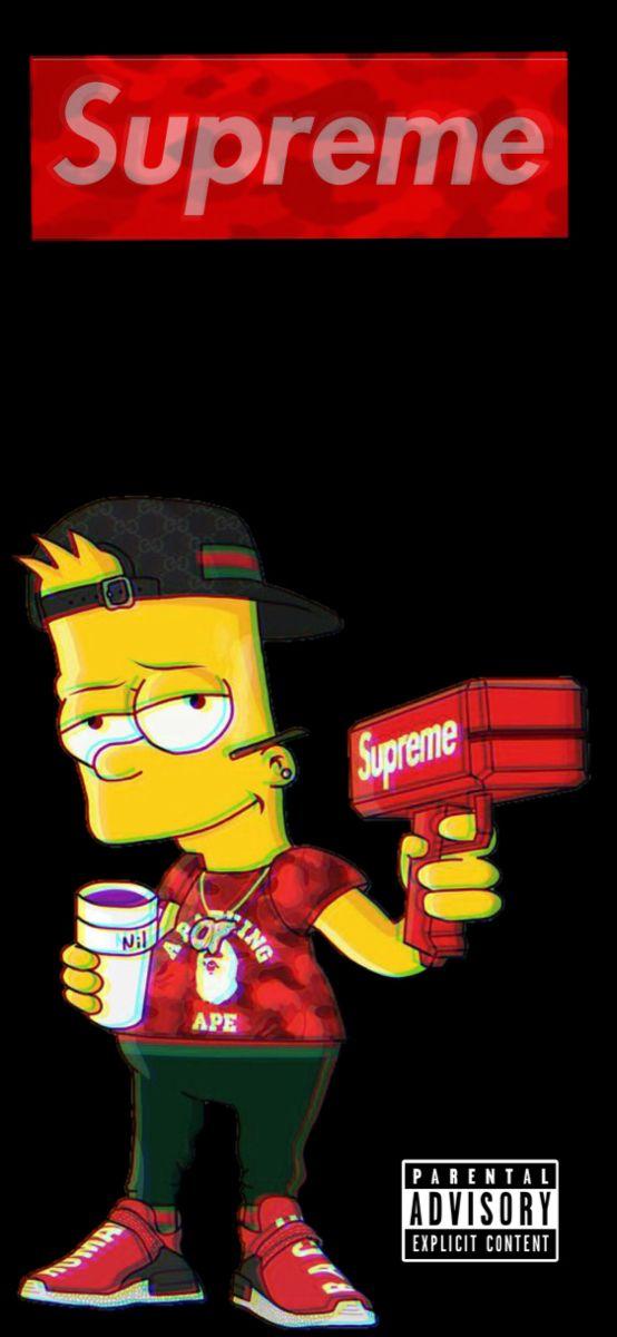 Supreme X Bart Supreme Iphone Wallpaper Supreme Wallpaper Hd Supreme Wallpaper Bape cool bart wallpapers