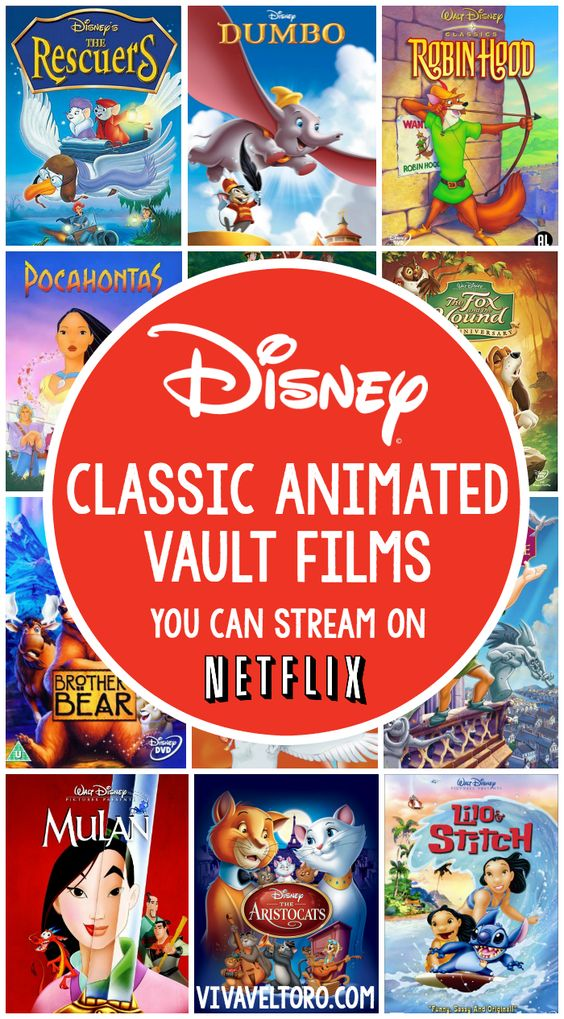 Love Disney movies? Here's a list of animated classics from the vault that you can stream on Netflix right now! #streamteam