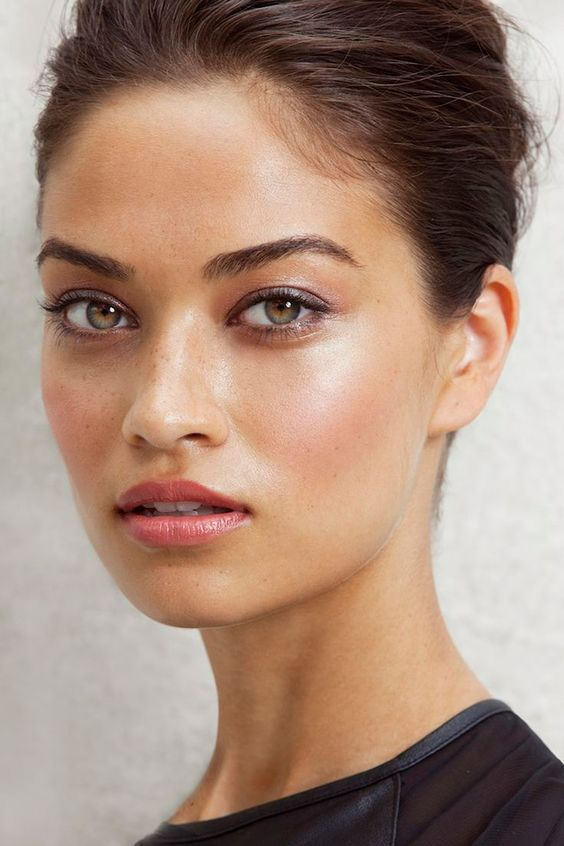 I love the defined but natural brows and subtle eyeshadow... also digging the dewy highlighting!