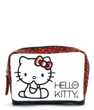 HELLO KITTY WHITE QUILTED WITH BOWS COIN BAG LOUNGEFLY OFFICIAL WEBSITE
