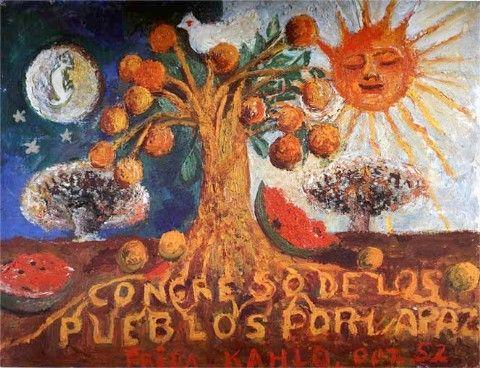 CONGRESO DE LOS PUEBLOS POR LA PAZ. Frida Kahlo, 1952