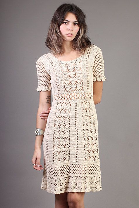 vintage CROCHET LACE wedding SCALLOPED sheer �� LuxieVintage: