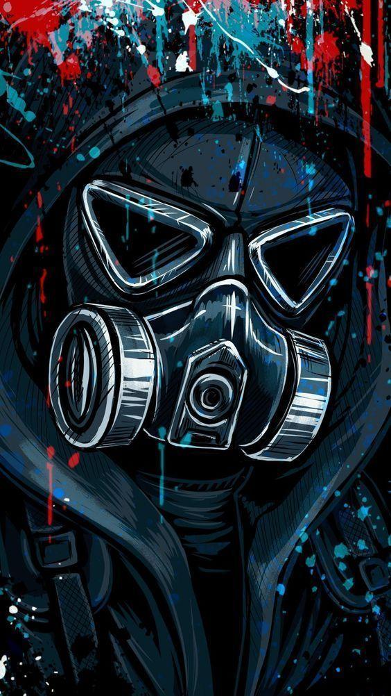 Bycicle Illustrati In 2020 Gas Mask Art Graffiti Wallpaper Masks Art
