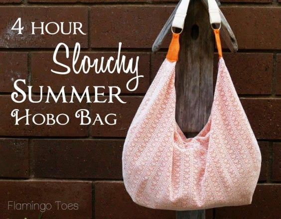 Make this Summer Slouchy Bag in just 4 hours #diy