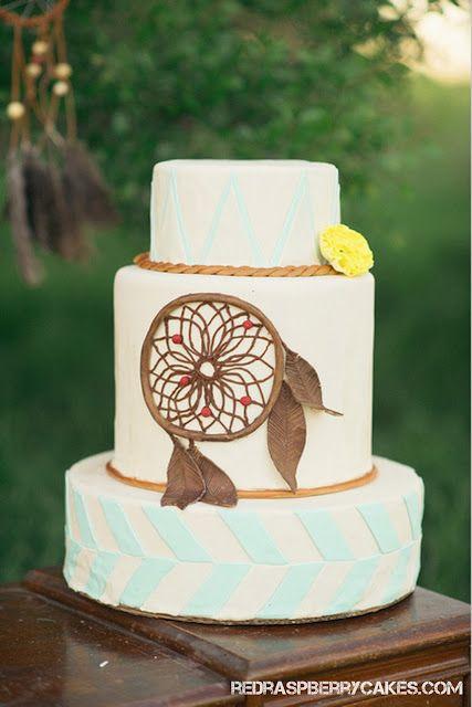 Dreamcatcher Hippie Wedding Cake