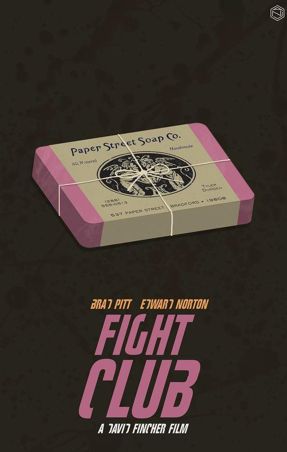 Fight Club (1999) ~ Minimal Movie Poster by Angie Reyes #amusementphile