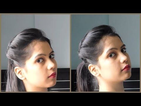 How To Make Side Puff Hairstyle With Tips And Tricks 1 Minute Side Puff With Ponytail Hairstyle Youtube Hair Puff Ponytail Hairstyles Hair Style Vedio