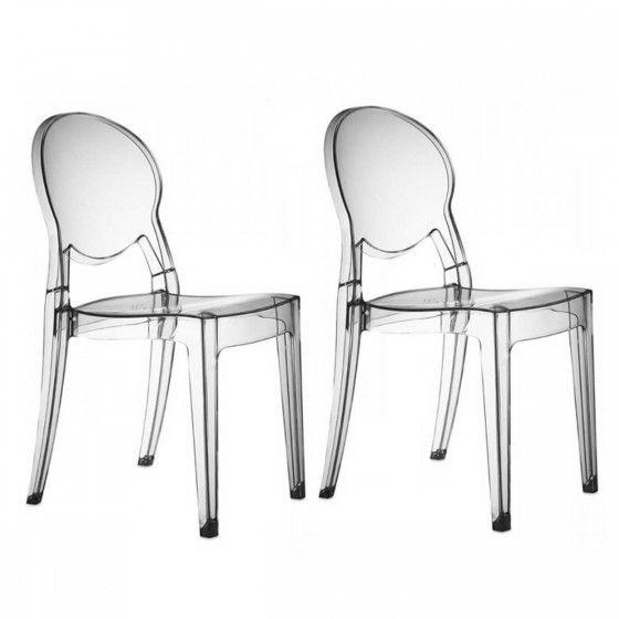 Chaises Transparentes Design Regence Soldes Chaise Transparente