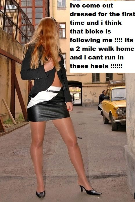 Lady fun pantyhose forced have
