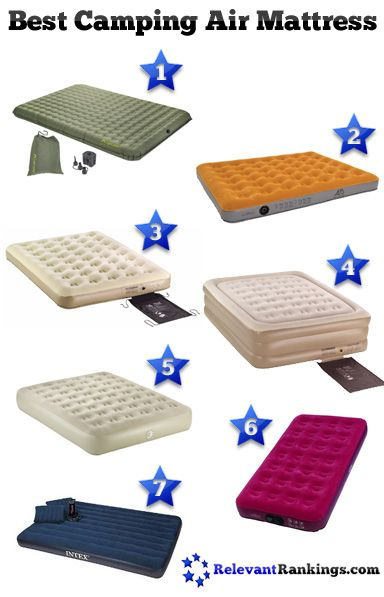 Reviews of the best air mattresses for camping as rated by RelevantRankings.com. See more at http://www.relevantrankings.com/best-air-mattress-for-camping/