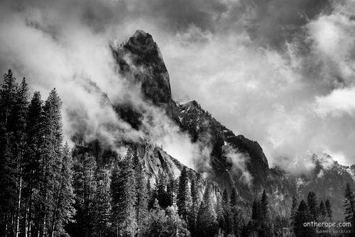 The never ending stormy weather in Yosemite has just ended
