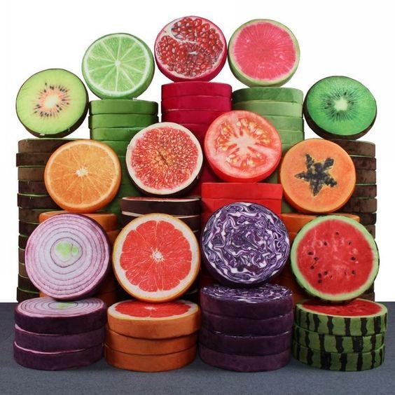 Fruits forme oreiller coussin drôle pastèque OrangeToy poupée canapé de voiture…