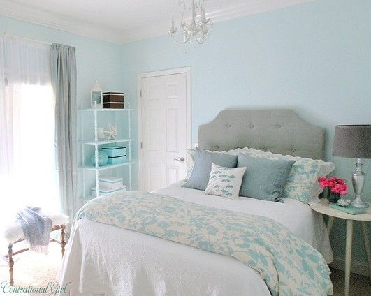 Really Pretty!!! But maybe a shade darker lie a sky blue, the PERFECT FOR  ME!!! | Room | Pinterest | Dark, Bedrooms and Room
