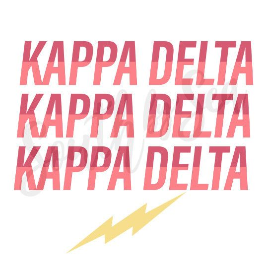 South By Sea Southbyseacollege Kappa Delta Kd Kaydee Lightning Bolt Retro Vintage Recruitment South By Kappa Delta Delta Letter Sorority Designs