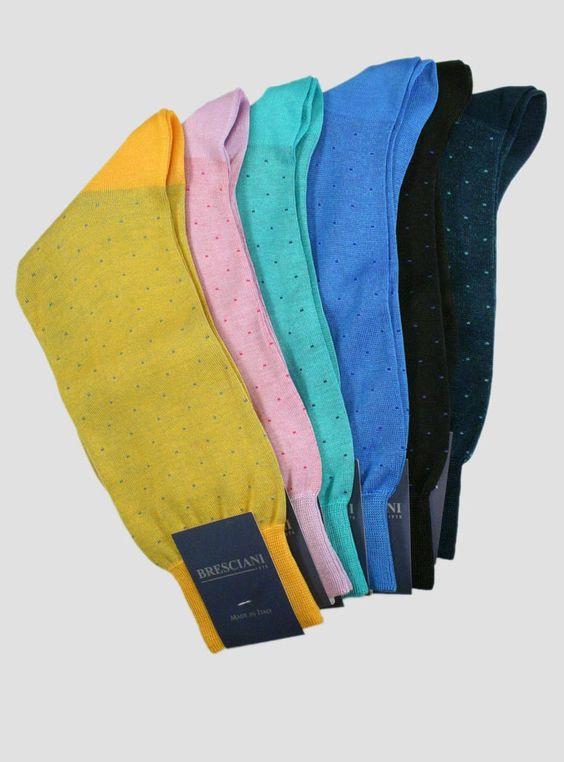 Bresciani Cotton Pin Dot - Men's   The Sock Hop