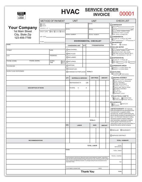 HVAC Extended Service Maintenance Agreement Brochure #1 Value - service invoices