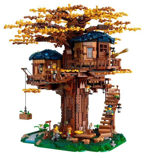 boomhut maken van lego