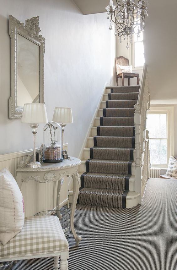 Treasure Trove - The decadent hallway is a palette of cream shades: