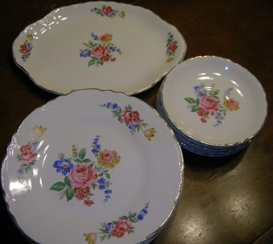 This was my mother-in-laws first set of dishes! One of the many Homer Laughlin patterns.