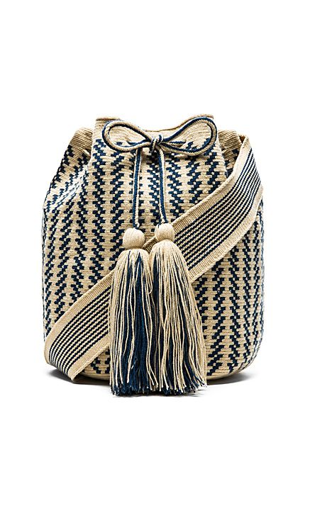 Guanabana Large Bucket Crossbody in Blue | REVOLVE: