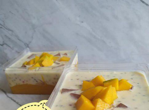 Resep Creamy Mango Sago By Mariam Rahmatiah Langsungenak Com Resep Di 2020 Mango Cangkir Mangga