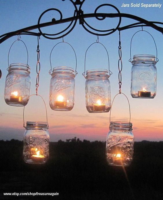 DIY Wedding Mason Jars Lanterns Hangers 6 DIY Outdoor Party ...