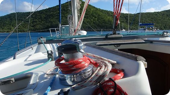 On a beneteau 36 with Conch Charters