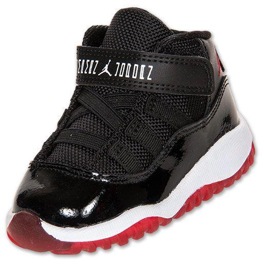 Boys Toddler Air Jordan Retro 11| FinishLine.com | Black/Varsity Red