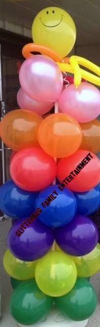 Rainbow Balloon column