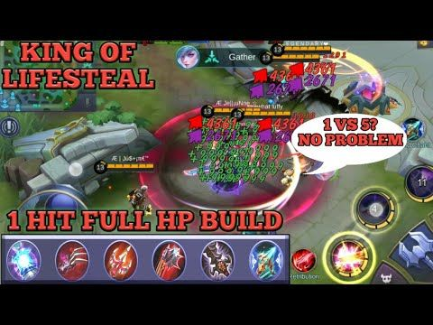 1 Hit Full Hp Build Auto Savage King Of Lifesteal With Full Lifesteal Build Mobile Legends Youtube In 2020 Mobile Legends Legend Savage