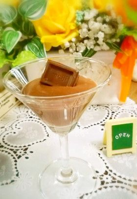 This tofu?  Thick chocolate pudding (sugar nonuse