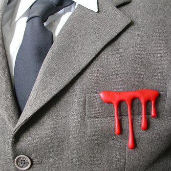 Sissi Westerberg - D is for Drip 'Something Inside' Brooch in acrylic.