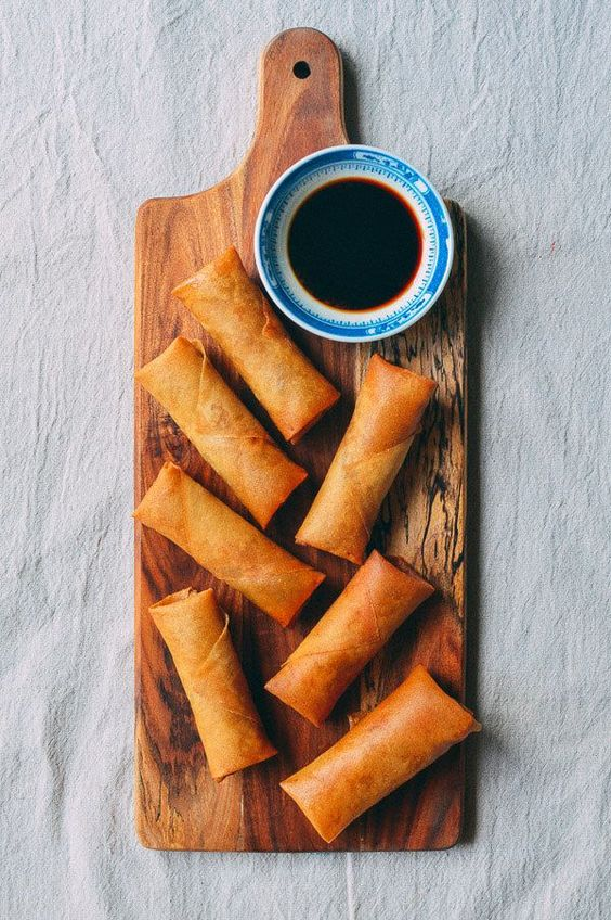 These homemade spring rolls are made with an old family recipe...along with a tangy, super old-school dipping sauce. Find out how to make them yourself! @thewoksoflife1