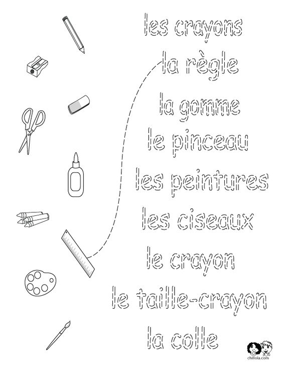 school worksheets french (do this with any vocab!) | French ...