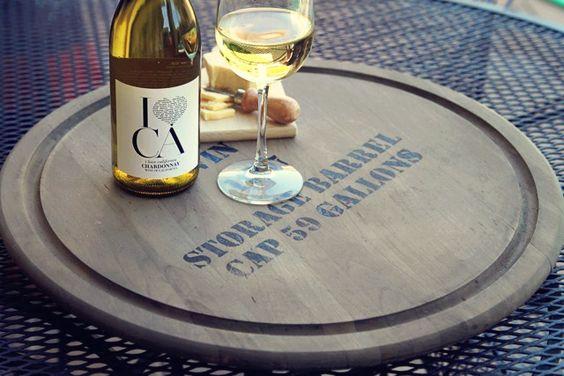 Wine barrel tray