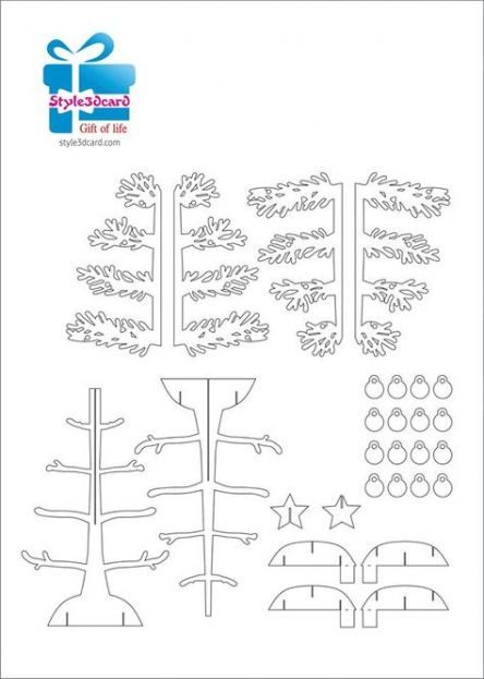 21 Super Ideas For Paper Tree Template Pop Up Pop Up Card Templates Paper Pop Kirigami Patterns