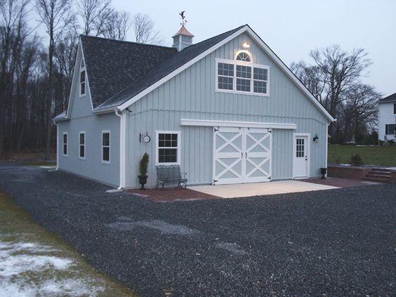 36x36 grey barn keystone barns equestrian pinterest for Pole barn roof pitch