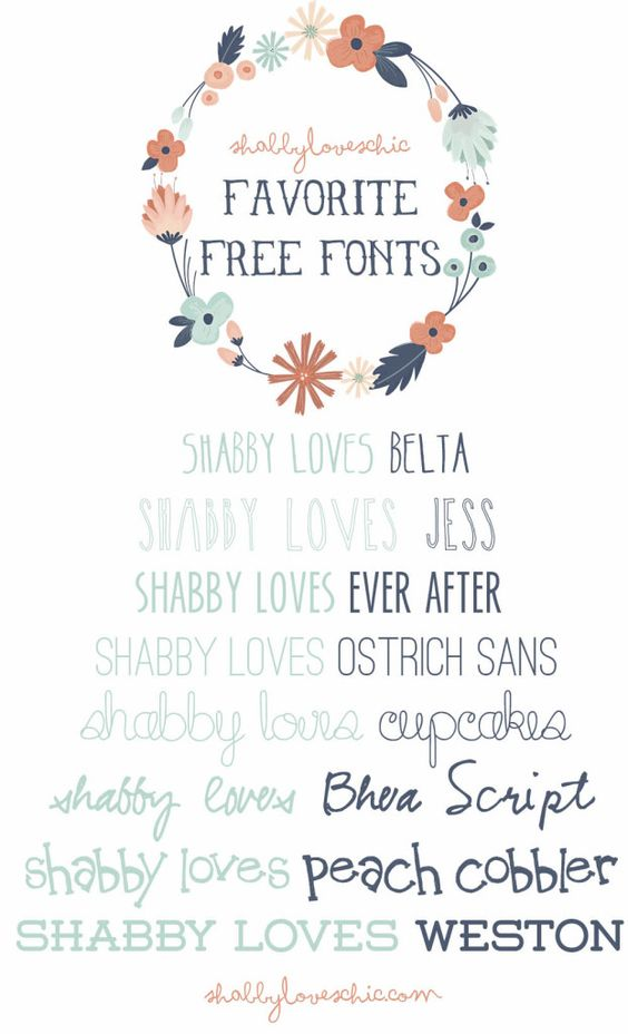 When Shabby Loves Chic Deco Un Interieur Boheme: Shabby Loves FREE Fonts