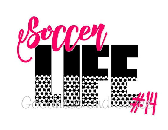 Soccer Life - Personalized with your team color and number!  Perfect for soccer moms, sisters, aunts and nanas... available in black or white, tank or tee style.