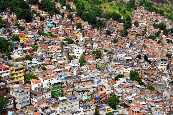 Rocinha, largest hill favela in Rio de Janeiro.