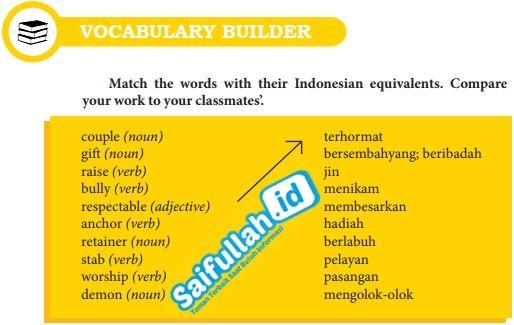 Kunci Jawaban Bahasa Inggris Chapter 12 Halaman 156 Vocabulary Builder Kelas 10 Bahasa Inggris Bahasa Inggris