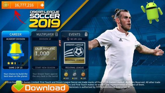 Free Download Dls19 V6 01 Dream League Soccer 2019 Mod Apk Data 320mb Android Mobile Game Unlimited Mo Android Mobile Games Game Download Free Download Games